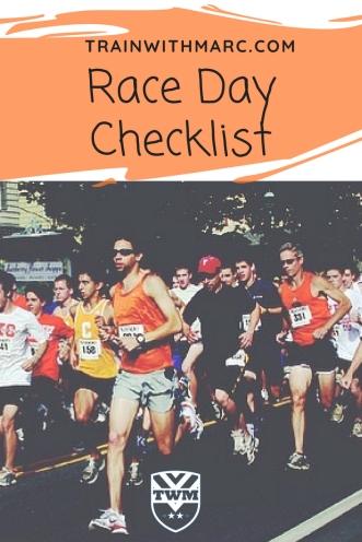 Race Day Checklist