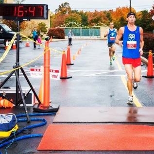 Marc finishing a 5k