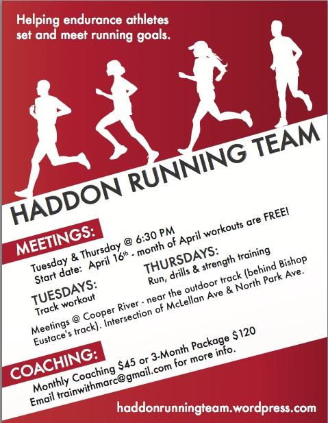 Haddon Running Team Flyer