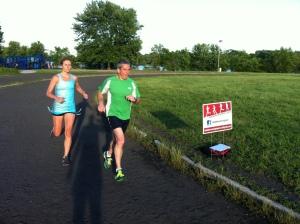 Steve & Carly in training.