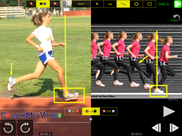 Emily's running form compared to Lauren Fleshman