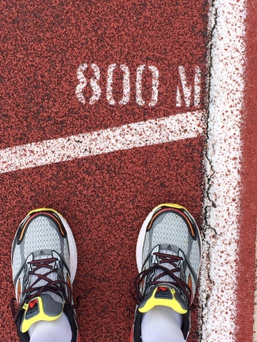 Using a track can help pace yourself