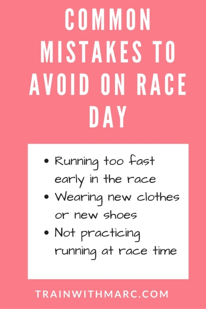 mistakes to avoid on race day