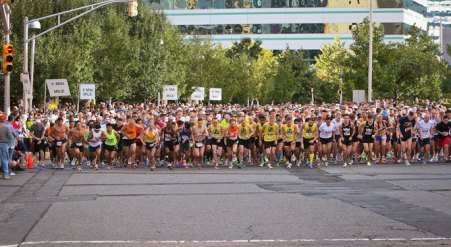 newport half marathon start