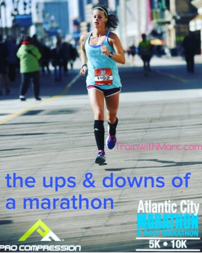 Managing the ups and downs of a marathon