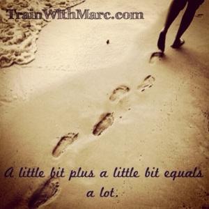 little plus a little equals a lot