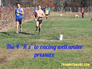 """4 """"R's"""" to racing under pressure"""