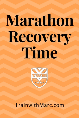 Post-marathon recovery time differs by person