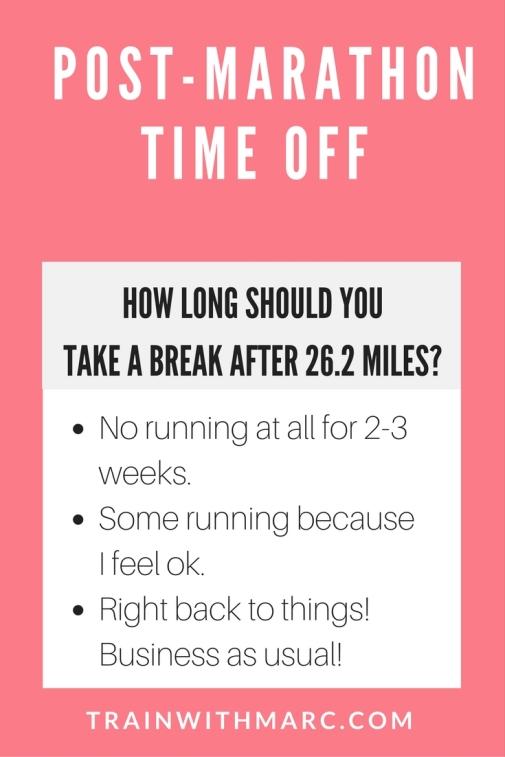 Post-Marathon time off