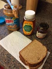 Post-run recovery food - pbj