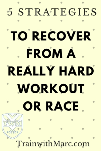 recover from a really hard workout or race