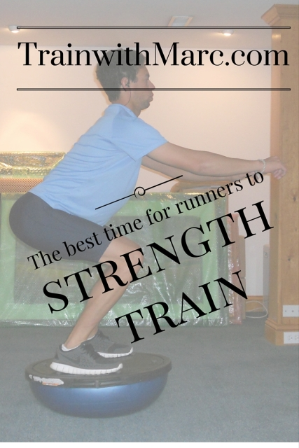 The best time for runners to strength train