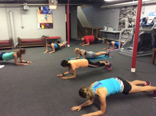 Planks work the core muscles