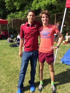 Coach Marc & his runner, Chris; 2015