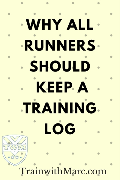 A training log can help you identify when you're about to run a PR or when you need a break from running.