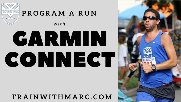 Use Garmin Connect to create workouts