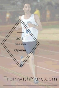 Opening my season with a mile race