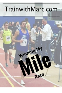 Marc winning his mile race at the Monmouth Meet