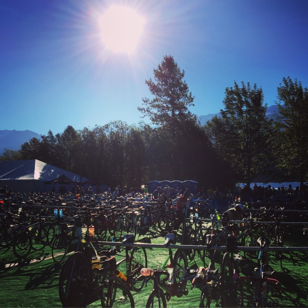 Bike Transition at Ironman Vancouver