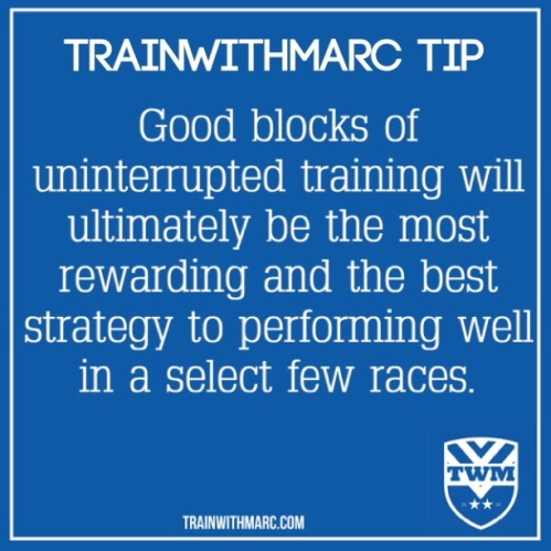 TrainwithMarc Tip: uninterrupted training