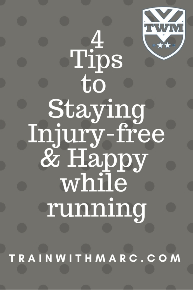 Injury-free runners are the happiest