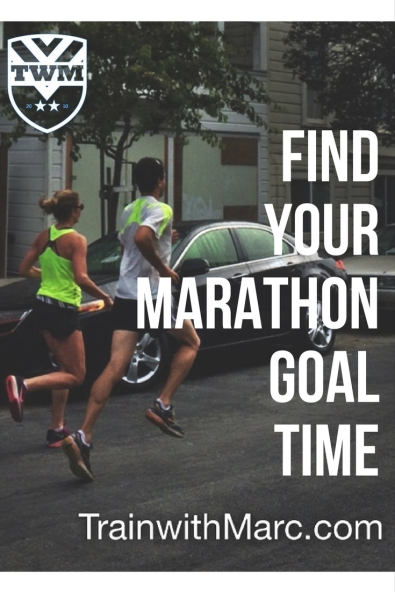 Use races & training to predict marathon time