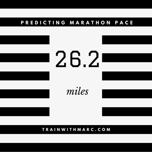 How to Predict Marathon Pace