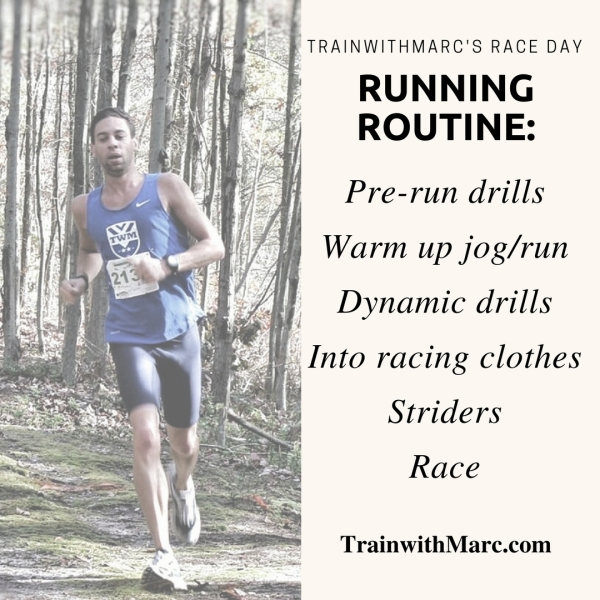 TrainwithMarc's Race Day Running Routine