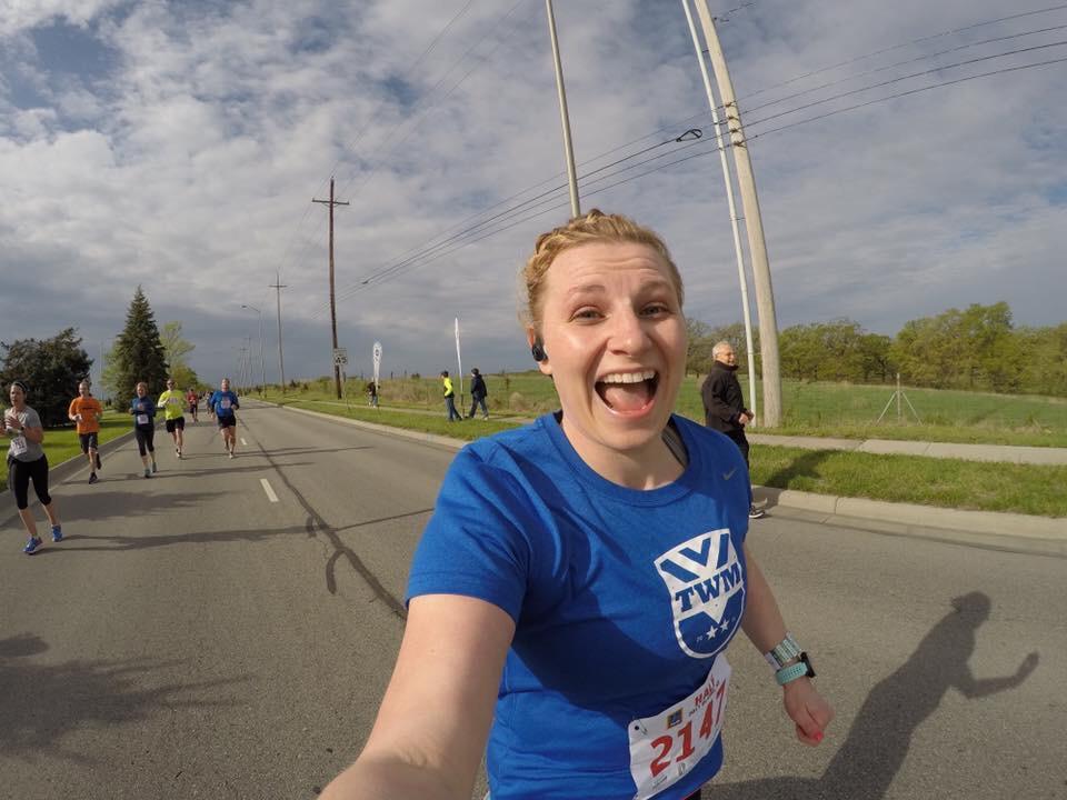 Bridget runs for TrainwithMarc