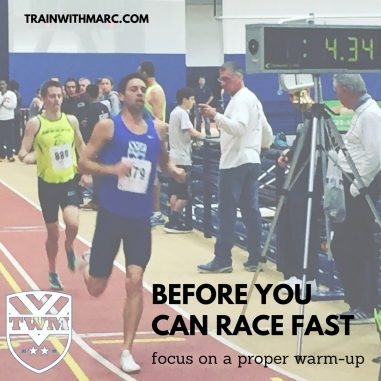 To race fast, you need to be warmed up