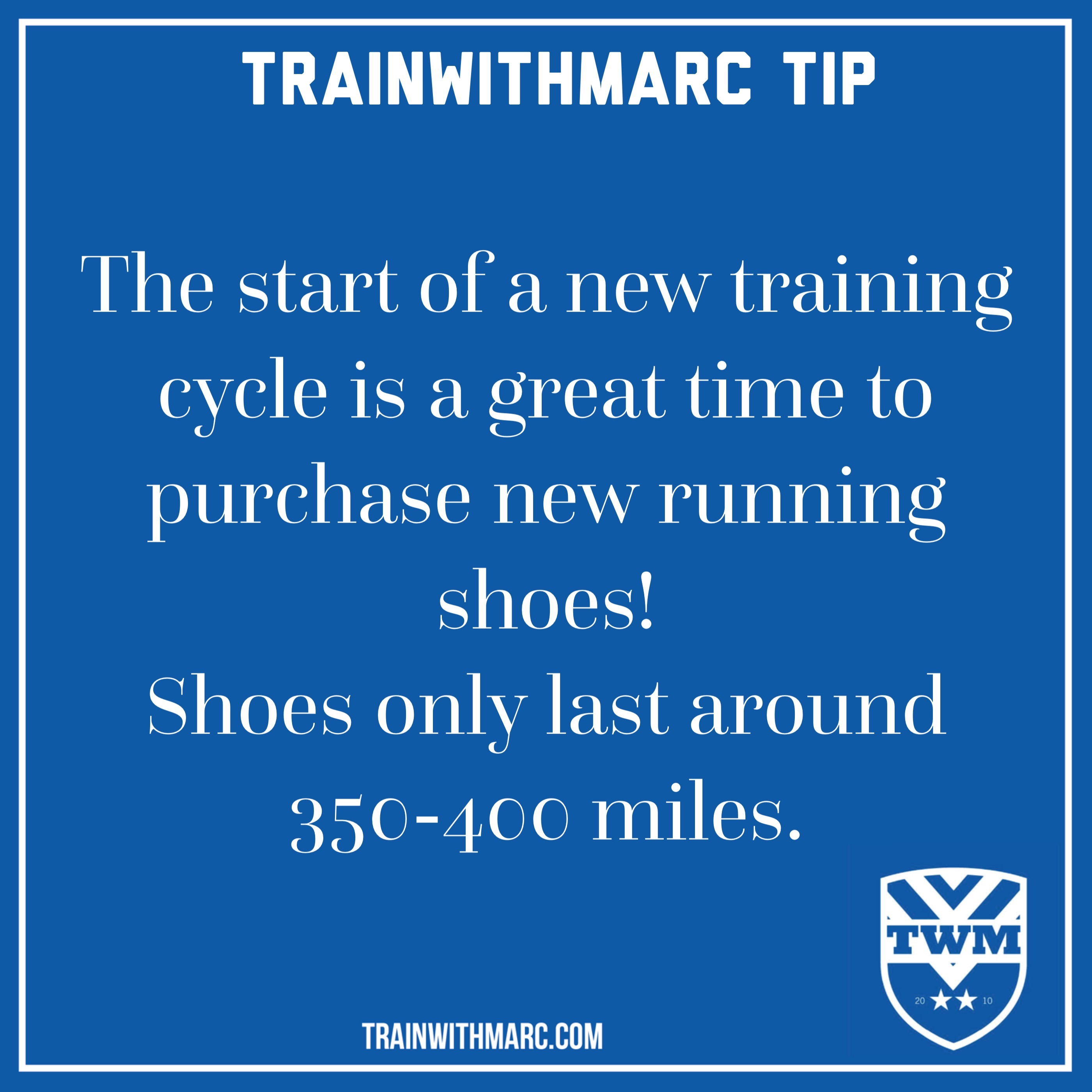 Running Shoe Tip: the best time to buy new running shoes is after a training cycle