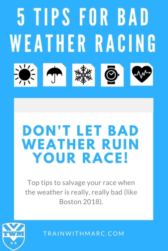 5 of the best tips for racing in bad weather