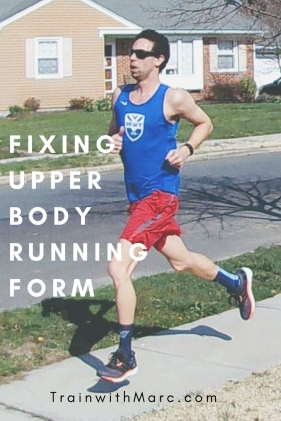 Improve running form by keeping elbows close to your torso