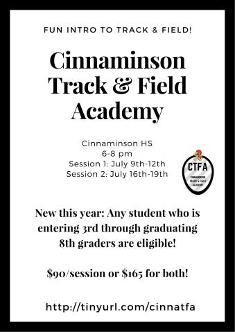 2018 Cinnaminson Track & Field Academy