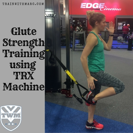 Glute Strength Training using TRX machine