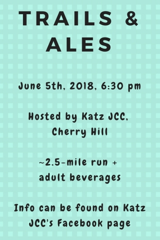 JCC's hosting a Trails & Ales group run