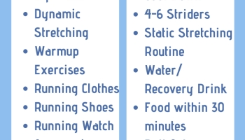 The 13 things you have/should do to have a good run