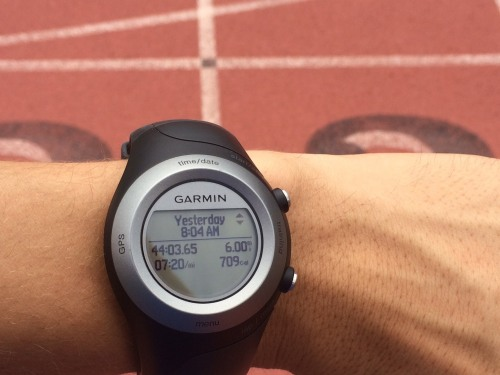 Charged GPS watch = win