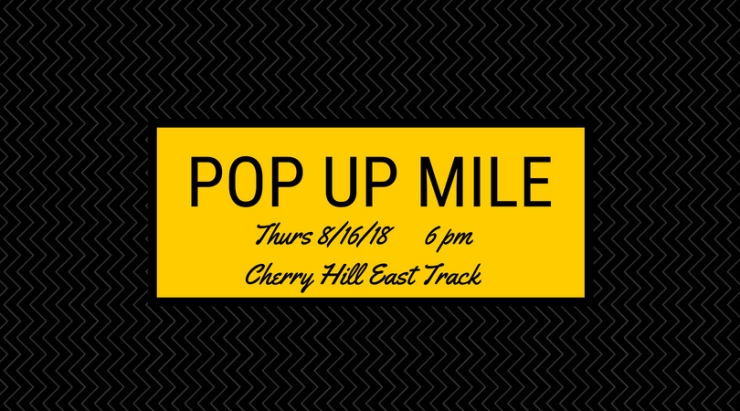 Cherry Hill Pop Up Mile Race