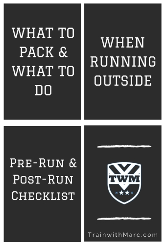 What to pack and what to do when running outside