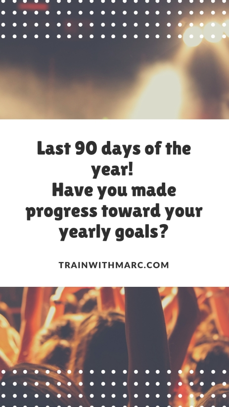 Yearly goals can still be achieved!