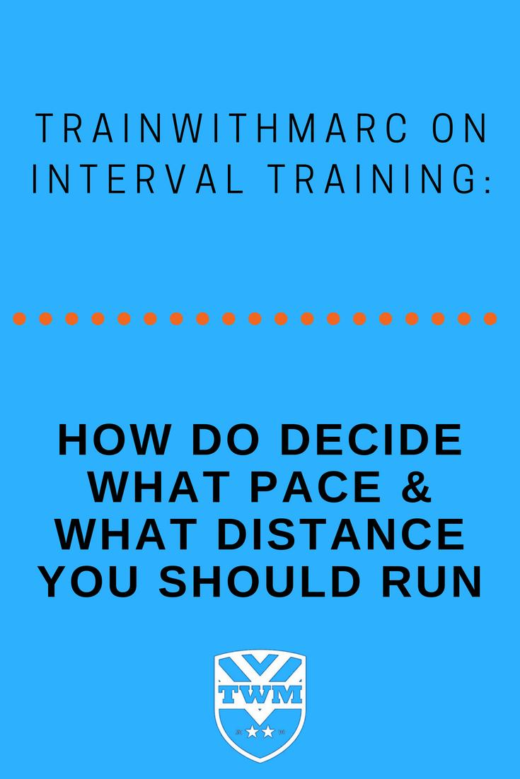 deciding on pace and distance