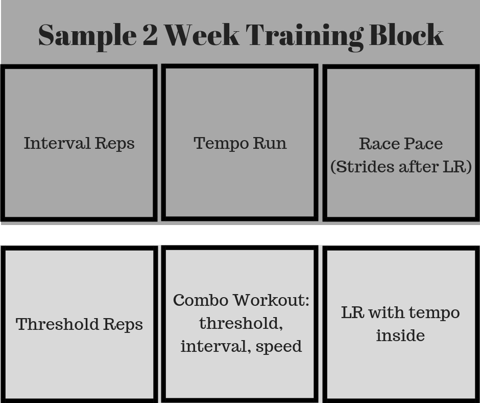Sample 2 Week Training Block
