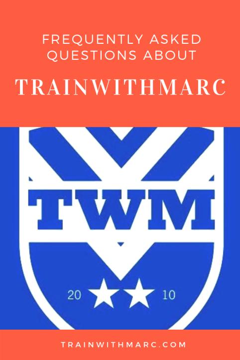 TrainwithMarc FAQ