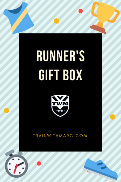 Runner's Box filled with goodies for any runner