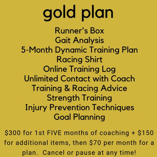 Gold Training Plan