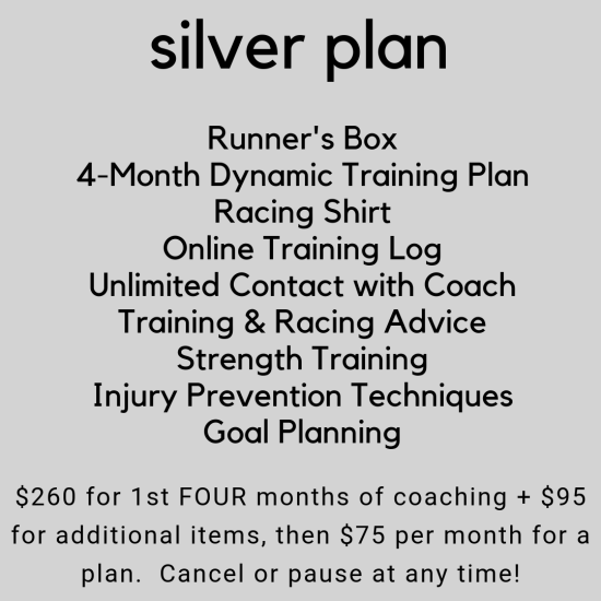 Silver Training Plan
