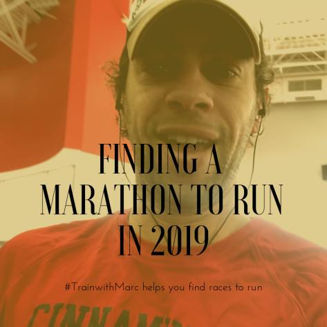 finding a marathon to run