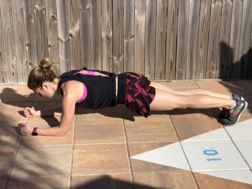 Front plank builds core strength