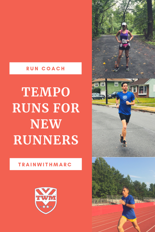 Tempo runs for new runners